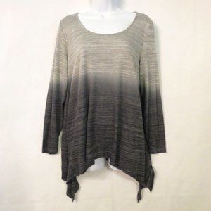 Torrid sweater 0 0X Pullover High-low Ombre Gray